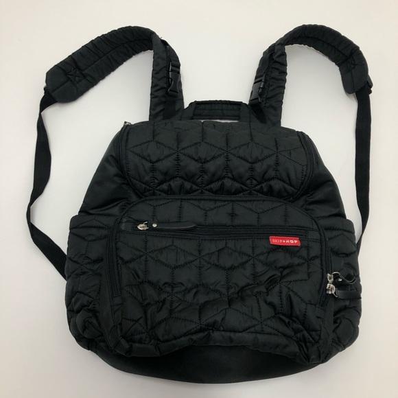 Skip Hop Handbags - Skip Hop Black Quilted Diaper Bag